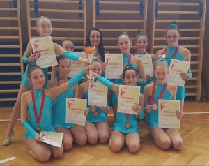 3. mesto na državnem pokalu estetske gimnastike